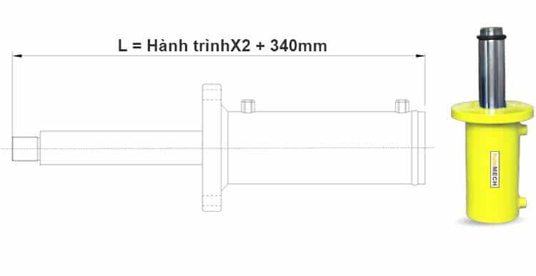Bản-vẽ-kích-thước-của-xi-lanh-100-tấn-Hulomech-mặt-bích-trước-khi-đi-hết-hành-trình