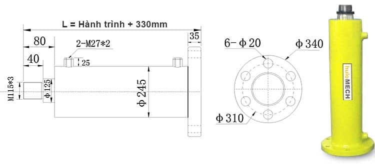 Bản-vẽ-kích-thước-của-xi-lanh-80-tấn-Hulomech-mặt-bích-sau