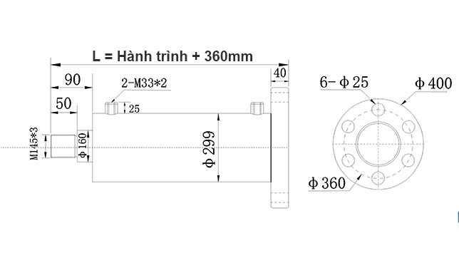 Bản-vẽ-xi-lanh-thủy-lực-150-tấn-Hulomech-mặt-bích-sau