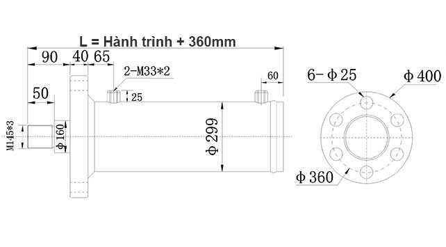 Bản-vẽ-xi-lanh-thủy-lực-150-tấn-Hulomech-mặt-bích-trước